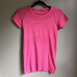 Lululemon Swiftly Crew Neck Top Pink 6